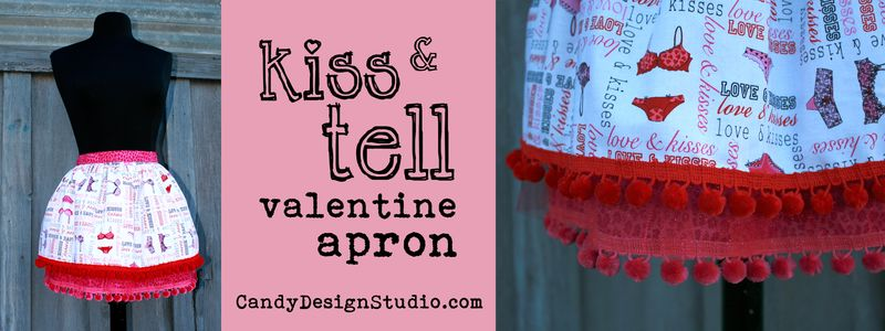 Kiss & Tell Apron banner
