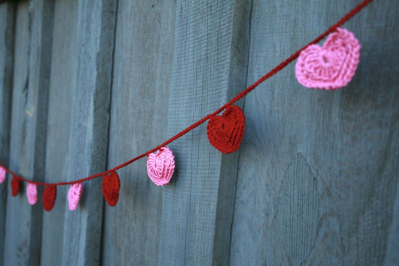 Crochet Heart Garland Full