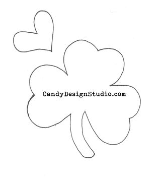 Shamrock Cookie Cutter Applique Pattern