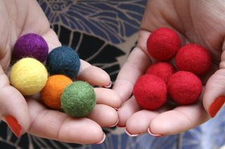 Felt Balls Mine and Maypole