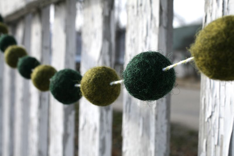 Felt Ball Garland Closeup