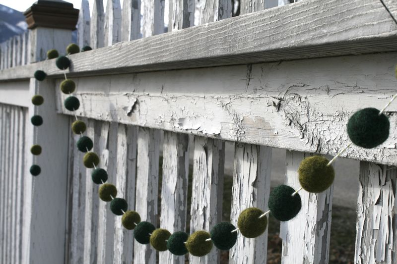 Felt Ball Garland Fence