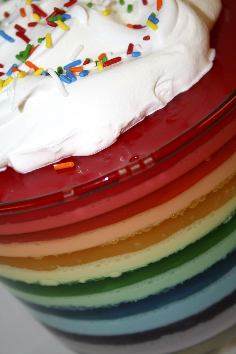 Rainbow Jello Closeup